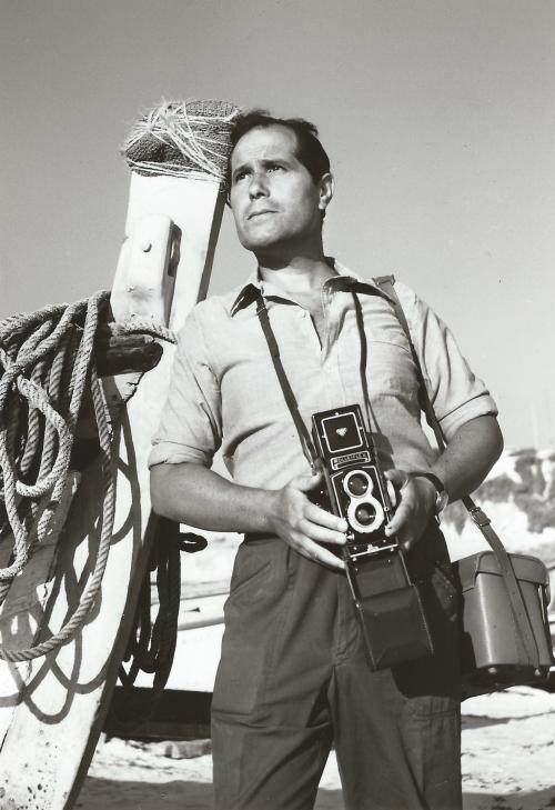 Foto Pai com Rolleiflex