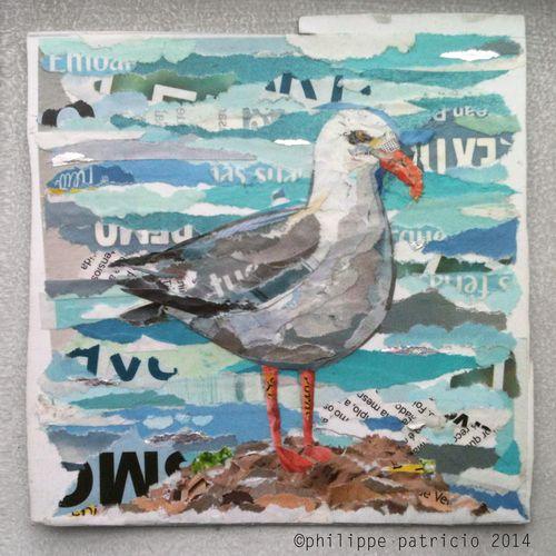 Philippe patricio collage art gaivota