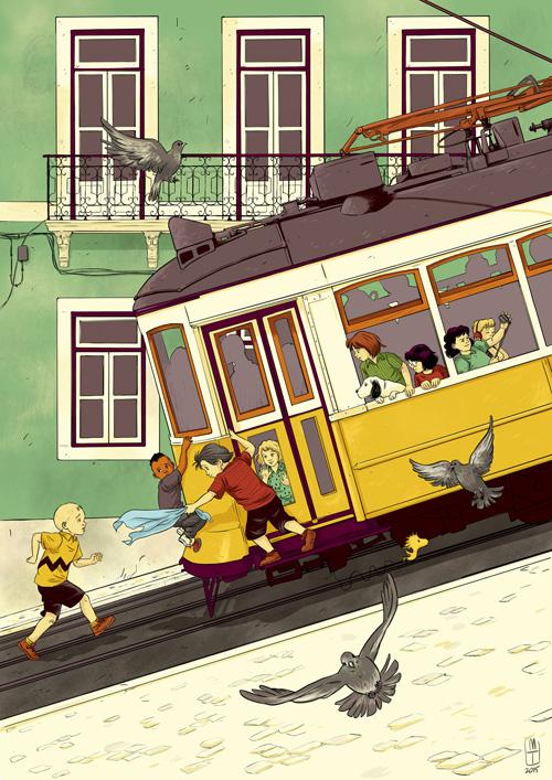 Peanuts_tram